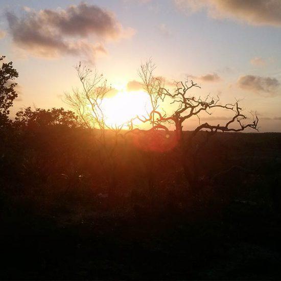 Por do sol em Japaratinga